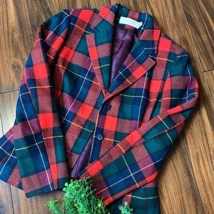 70's Pendleton Wool Plaid Blazer 3 Button Suit